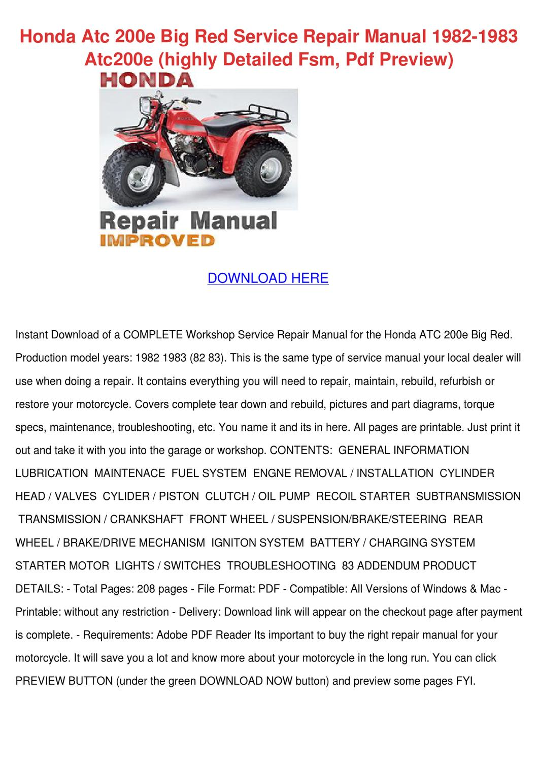 honda big red service manual