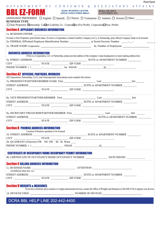 Consumer credit licence application form download
