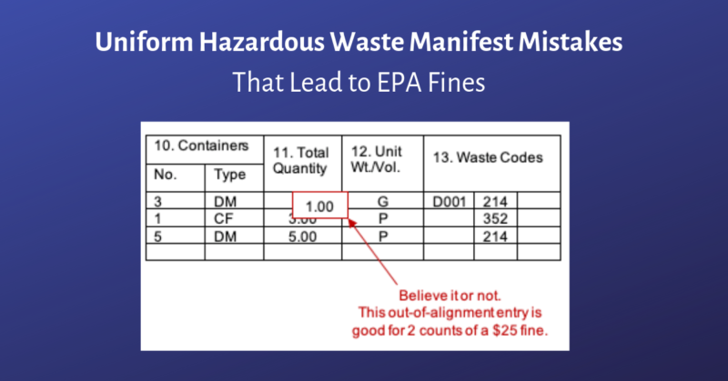Hazardous waste manifest form pdf
