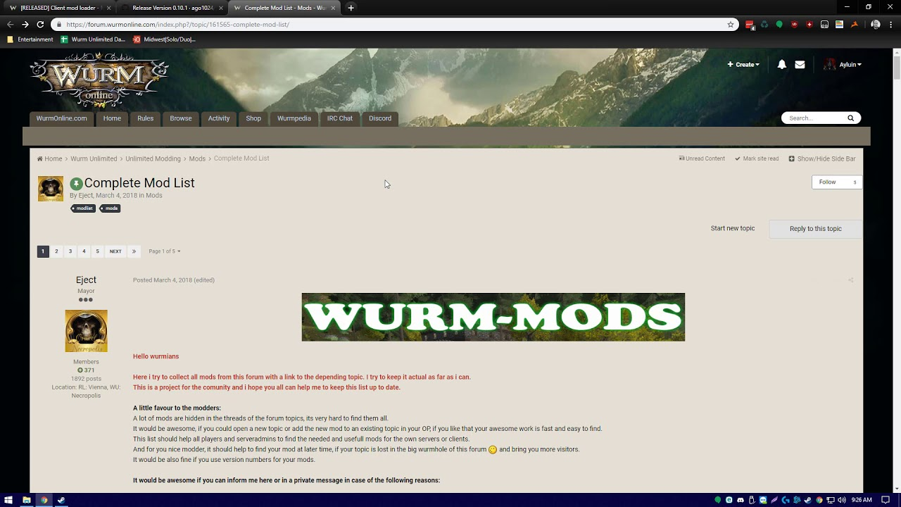 Wurm unlimited how to install live map mod