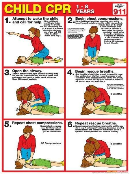 baby cpr choking instructions