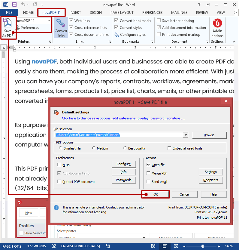 Converting word 7 doc to pdf