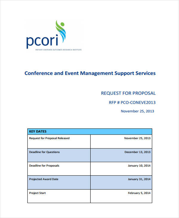 Event management proposal sample pdf