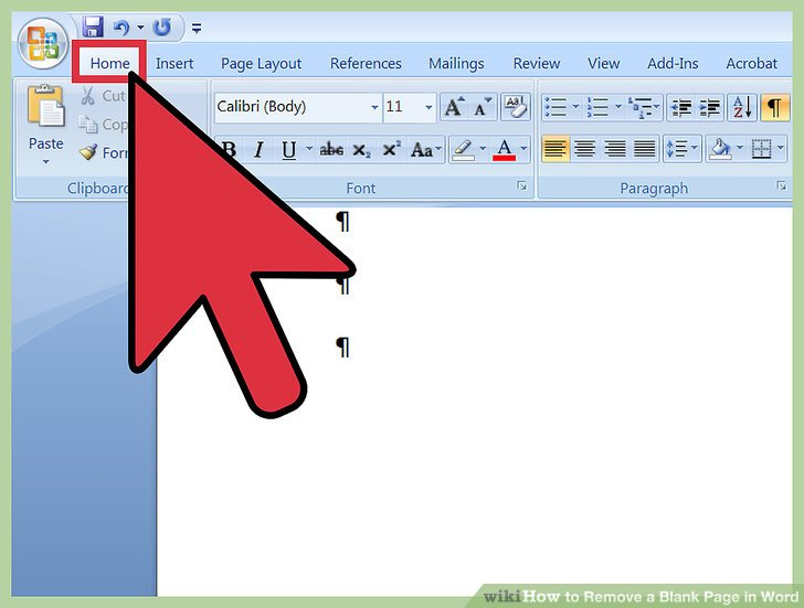 Removing pages from word document
