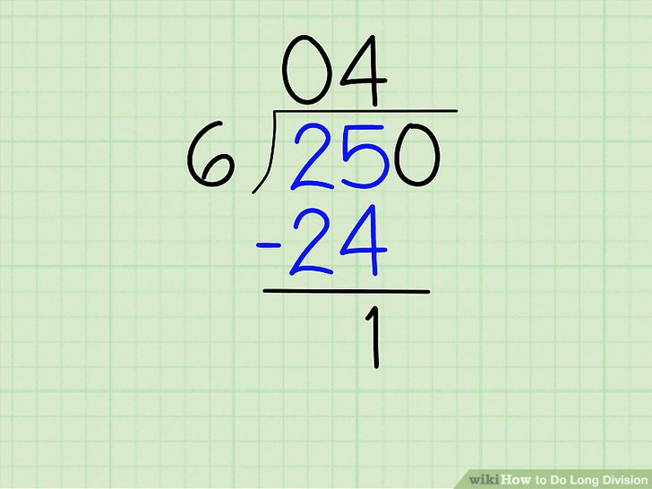 step by step instructions for long division