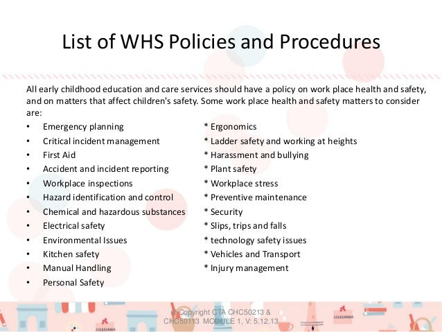 generic work health and safety policy and procedures manual
