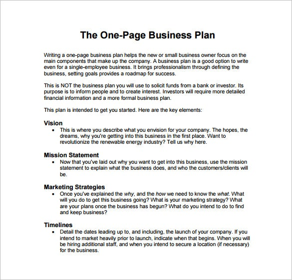 Financial plan sample for new business pdf