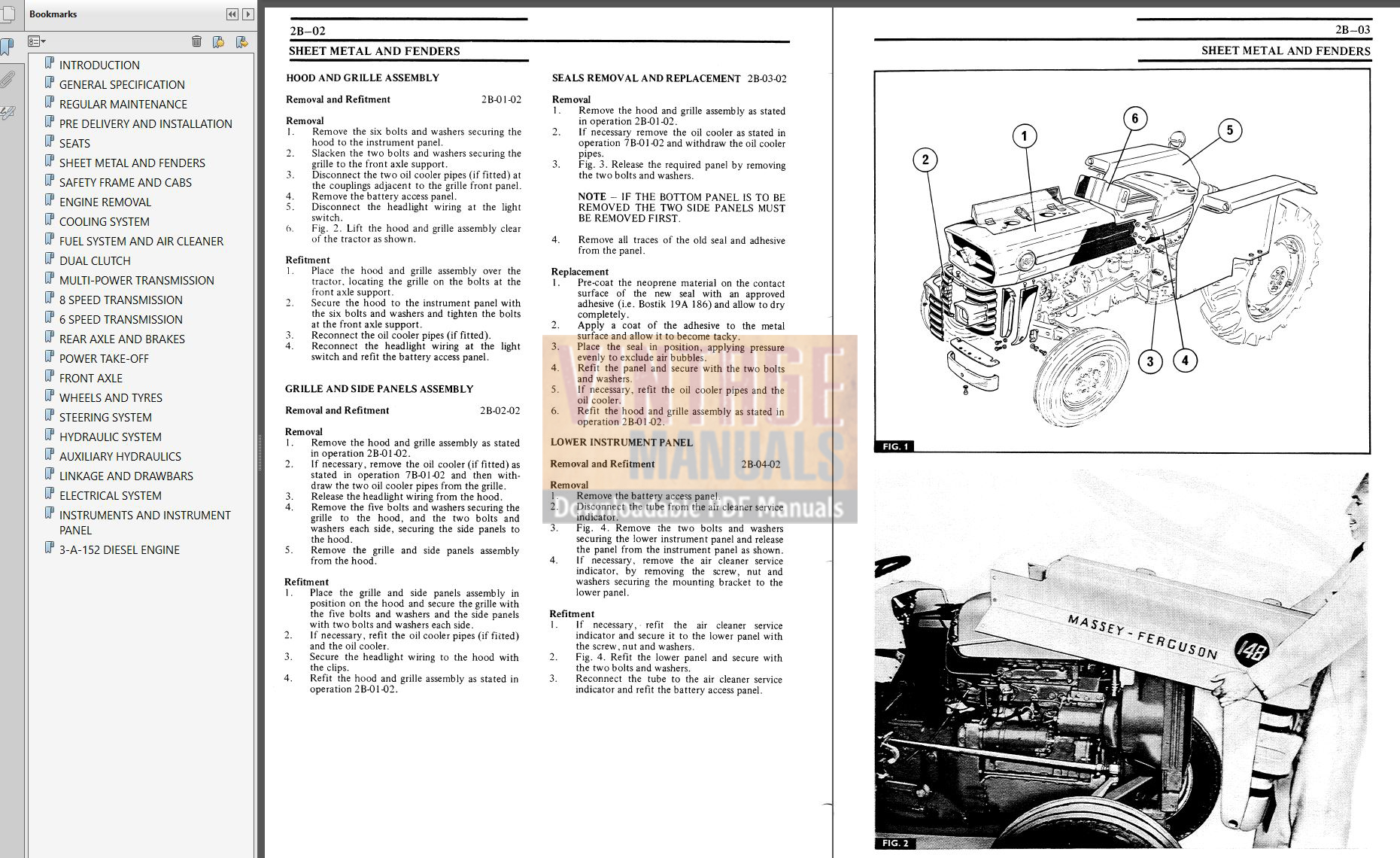 massey ferguson 135 manual pdf