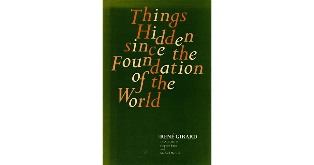 Things hidden since the foundation of the world pdf