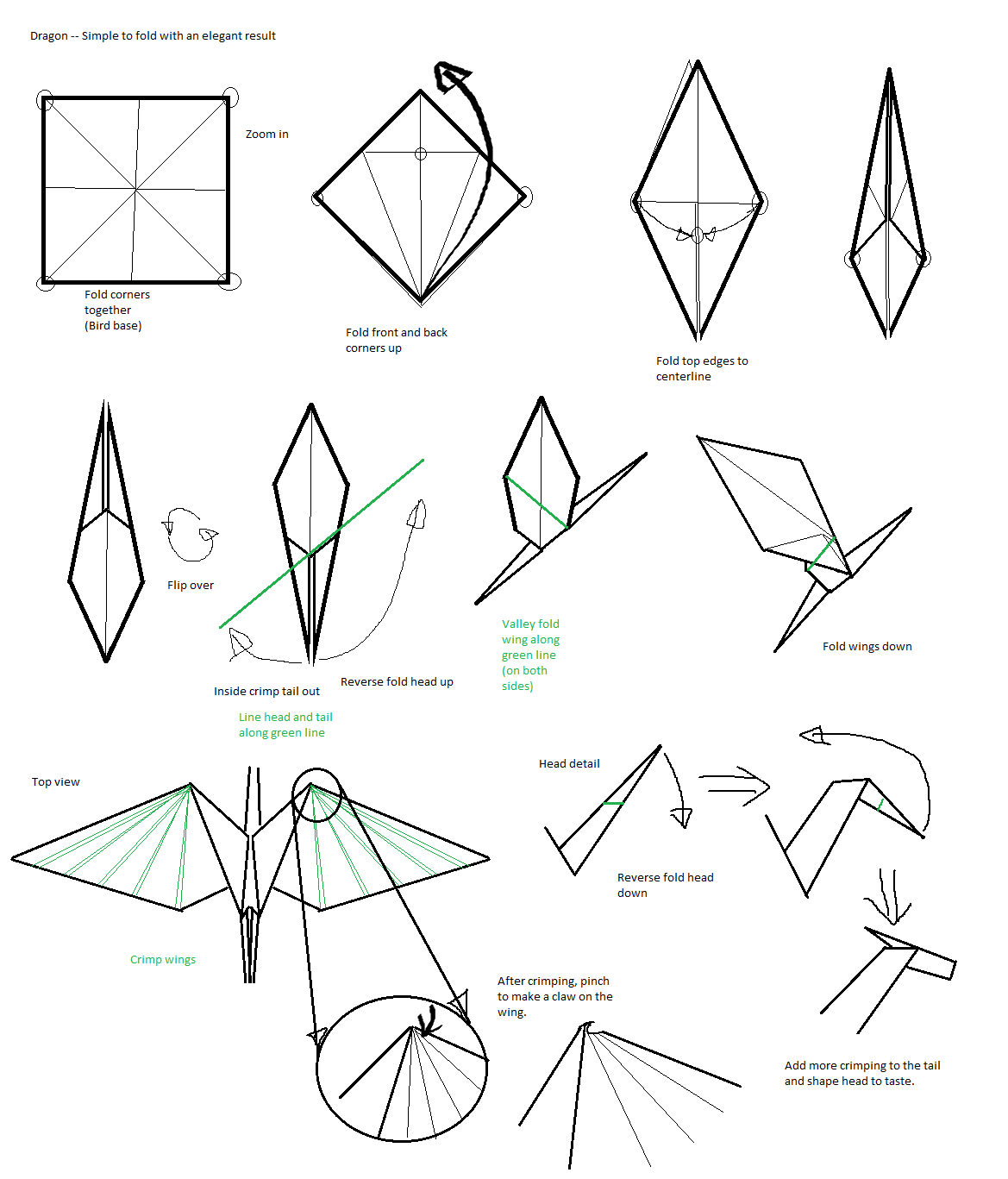 very easy origami instructions
